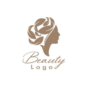 Beauty and spa logo on white background