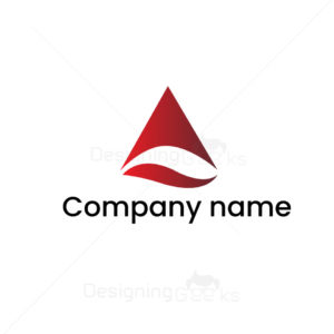Company Logo design with abstract letter A