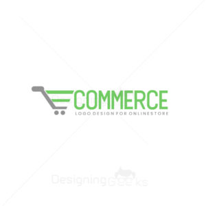 Ecommerce cart logo with abstract letter E