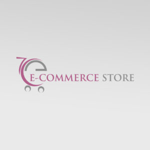 ecommerce shop cart logo design